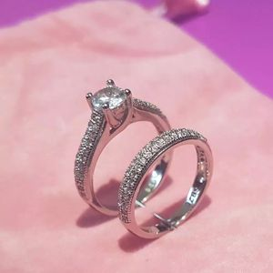 925 sterling silver Wedding/Engagement Ring Set- Multi Cut 💎 💍 for Sale in Houston, TX
