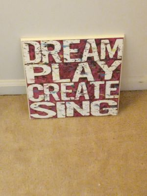 Framed picture - dream, play, create, sing for Sale in Silver Spring, MD