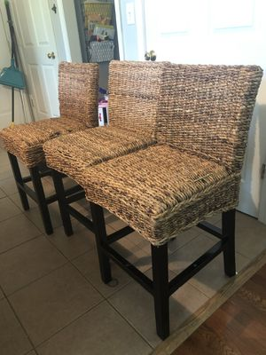 Wicker Chair Stools for Sale in Charles Town, WV