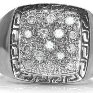 U574 DIAMOND RING MENS 14K GOLD WEDDING BAND 8.20 GRAMS for Sale in San Diego, CA