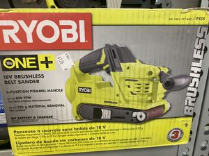 Like new Ryobi 18v belt sander with battery and charger only asking $120 for Sale in La Habra, CA