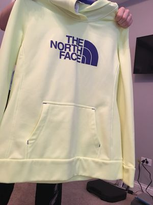 North face light yellow woman's hoodie for Sale in Joliet, IL