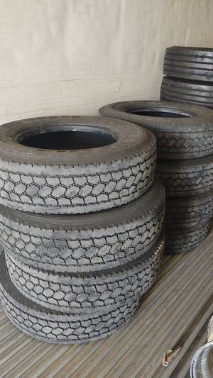 New and used rig tires 295/75/R22.5 295/75/11R22.5 El pin 8 tires 5506 Rhode Rd Keyes Ca for Sale in Waterford, CA