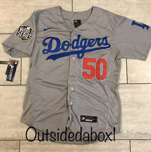 MOOKIE BETTS DODGERS BASEBALL ⚾️ MEN'S GRAY JERSEY FAST 💨 SHIPPING 📦 for Sale in Montclair, CA