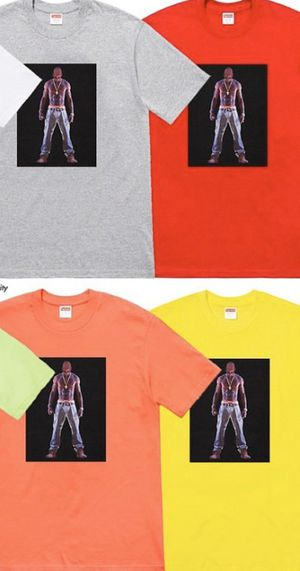 Supreme Tupac T shirt Neon Orange size Large for Sale in Burbank, CA