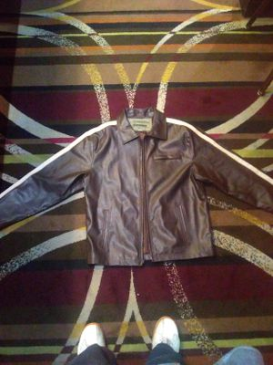 Machine leather motorcycle jacket for Sale in Las Vegas, NV