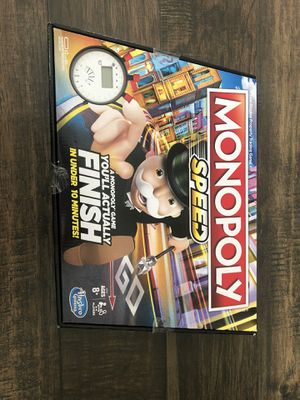Monopoly Speed Boardgame for Sale in Stafford, TX