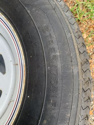 Trailer tires rims 225 75 15 for Sale in Homestead, FL