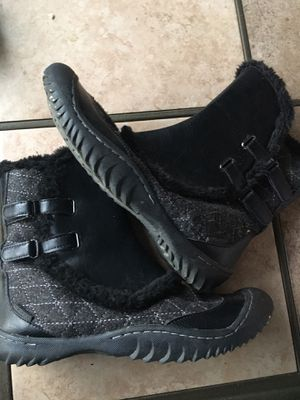 JBU women's winter boot with faux fur. Size 8.5. Good condition for Sale in Rancho Cucamonga, CA
