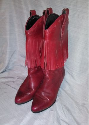 *Reduced Price* Dingo Red Leather Womens Fringe Boots for Sale in Independence, MO