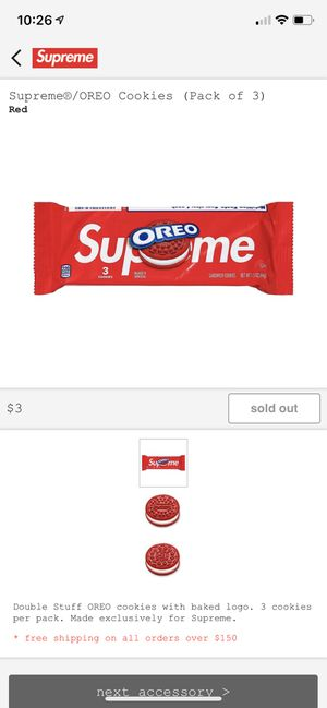 Supreme Oreos! 4 packs of 3! for Sale in Georgetown, TX
