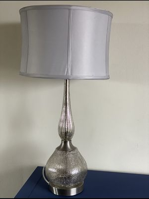 """30"""" silver table/desk lamp for Sale in Edgewater, NJ"""