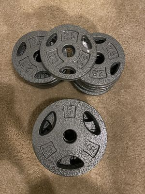 Cap Barbell Weight Plates 5- 5 Lb & 13-2.5 Lb = 57.5 lbTotal weight for Sale in Silver Spring, MD