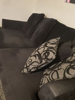 Black Microfiber Couch for Sale in San Diego,  CA