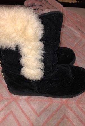 Black, White Fur Ugg Boots for Sale in Houston, TX