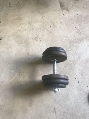 Single dumbbell 50 lbs for Sale in Clifton, VA