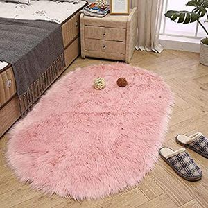 LEEVAN Super Soft Bedroom Carpet Fluffy Shaggy Area Floor or Living Room Home Decorate(Pink,3ft x 5ft) regular price $30 .5 units abeleble for Sale in City of Industry, CA