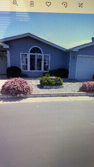Manufactured House for sale 2-3 bedrooms, 2 bath, 2 car garage, 55+ gated community.. monthly HOA. Priced 66% less than other 2-3 bedroom homes. for Sale in Hemet, CA