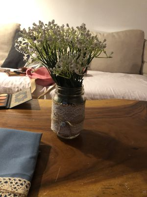 Mason jars with lace and burlap for Sale in Los Angeles, CA