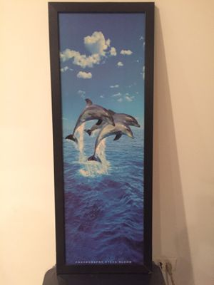 Blue 3 Dolphins painting for Sale in Chicago, IL