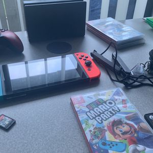 Nintendo Switch With Mario Party And 9 Other Games Preinstalled for Sale in Marina, CA