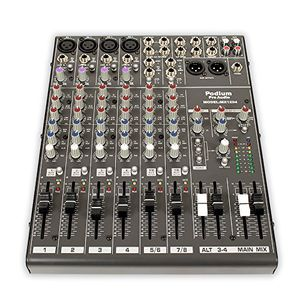 New Podium Pro MX1204 Mixer 12 Channel Pro Audio Mic/Line Stereo Mixing Console: Ultra-compact 12 channel mixer with rugged steel enclosure 4 studio for Sale in Los Angeles, CA