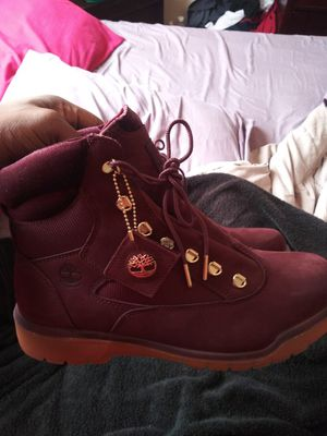 Timberland field boots for sale looking for 95-100 shoelace mess up but everything else pretty mucg brand new only wore 3times for Sale in North Chesterfield, VA