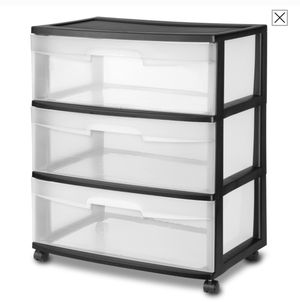 Plastic storage cabinets [2.] 1) three drawers. 2) 5 drawers for Sale in Glenwood, OR