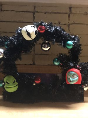 Nightmare Before Christmas Wreath for Sale in Clearwater, FL