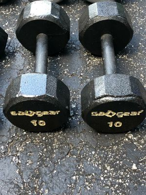 10 lb. Sa()Gear DUMBBELLS for Sale in Coconut Creek, FL