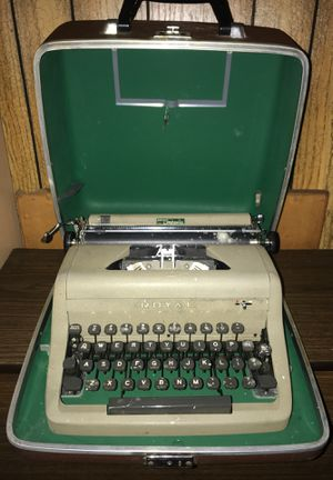 Royal senior companion antique type writer for Sale in Hammond, IN
