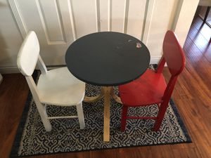 Kids table with 2 chairs set for Sale in Ontario, CA