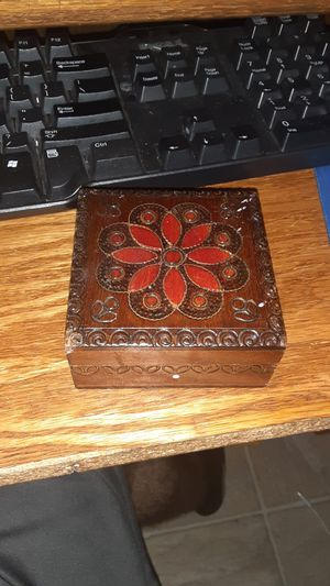 Handmade antique wooden box for Sale in Tacoma, WA