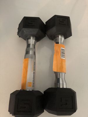 2 5 lbs dumbbells for Sale in Mableton, GA