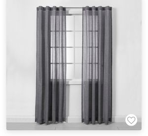Curtains - sheer gray for Sale in Seattle, WA