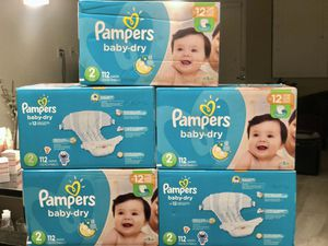 PAMPERS BABY DRY DIAPERS - SIZE 2 - 112 COUNT for Sale in Aventura, FL