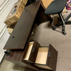 Ashely Studying / Office Desk With Chair 64x24 for Sale in Tacoma, WA