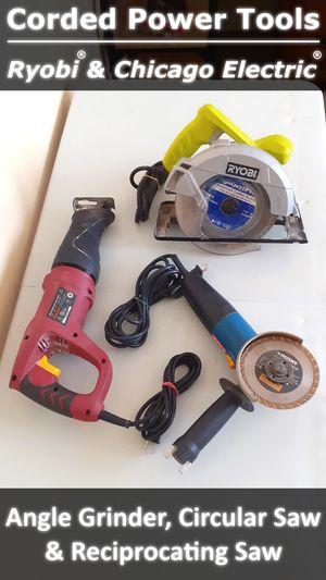 RYOBI | CHICAGO ELECTRIC - Power Tools - Grinder & Saw for Sale in Phoenix, AZ