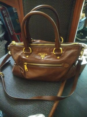 Prada Bag Authentic Brown Leather for Sale in Johns Creek, GA