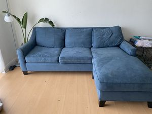 Suede Blue couch for Sale in Miami, FL