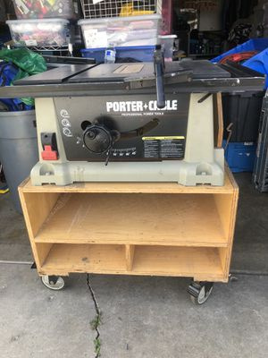 Porter Cable Table Saw with a homemade stand for Sale in Industry, CA