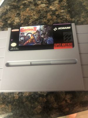 Minty Castlevania IV 4 SNES, Super Nintendo for Sale in Phoenix, AZ