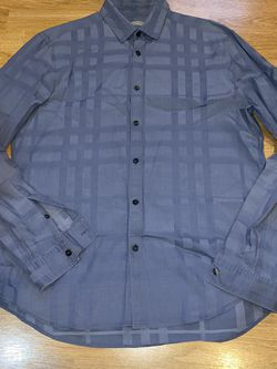 Burberry Brit Men's L Grey/blue Shirt for Sale in Portland,  OR