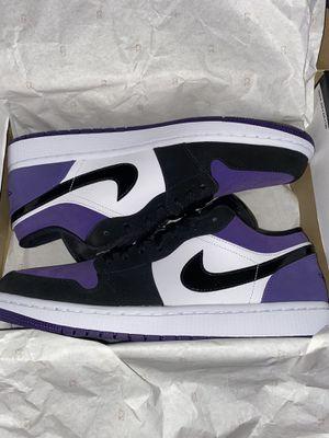 Air Jordan 1 - Court Purple Low for Sale in Stockton, CA