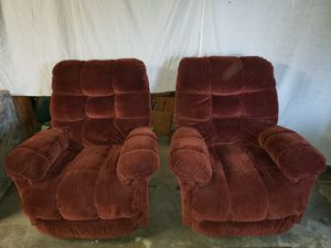 Clean and comfortable matching recliners for Sale in East Wenatchee, WA