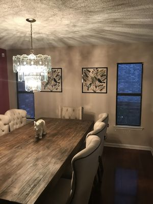 Glass chandelier gold base for Sale in San Antonio, TX