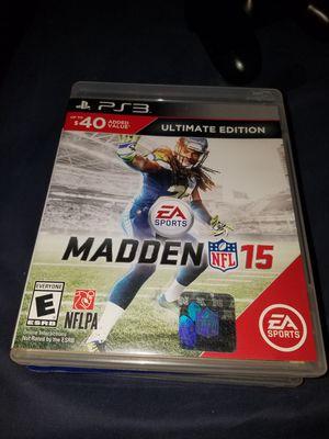 Madden 15 PS3 for Sale in Pleasanton, CA