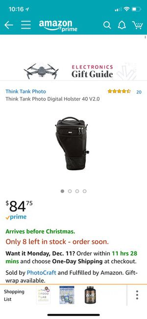 Think tank digital holster 40 2.0 camera bag for Sale in West Palm Beach, FL