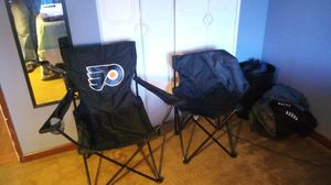 Flyers folding chair with carry on case for Sale in Philadelphia, PA