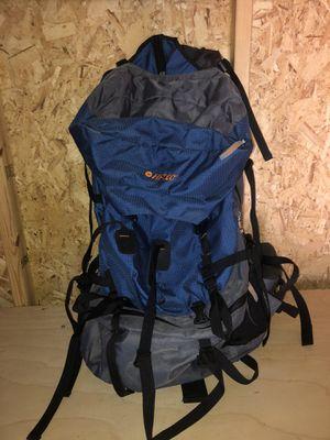 Hi-Tech 80 Liter blue adjustable hiking backpack for Sale in Castro Valley, CA